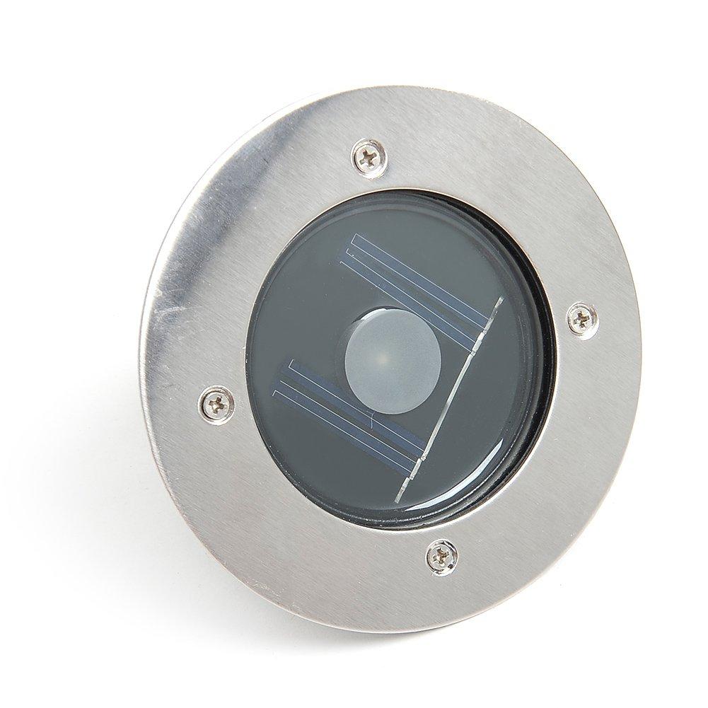 amzdeal® Luz solar Faros para suelos Lámpara LED Solar Luz Blanco Plástico Impermeable Decoración JardínJardín Exterior 3000K IP68: Amazon.es: Electrónica
