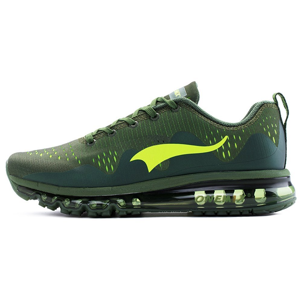 ONEMIX Air Cushion Sports Running Shoes for Men and Women New Wave Casual Walking Sneakers B0734MW7LC Men 8.5(M)US/Women 10(M)US 42EU|Olive Green
