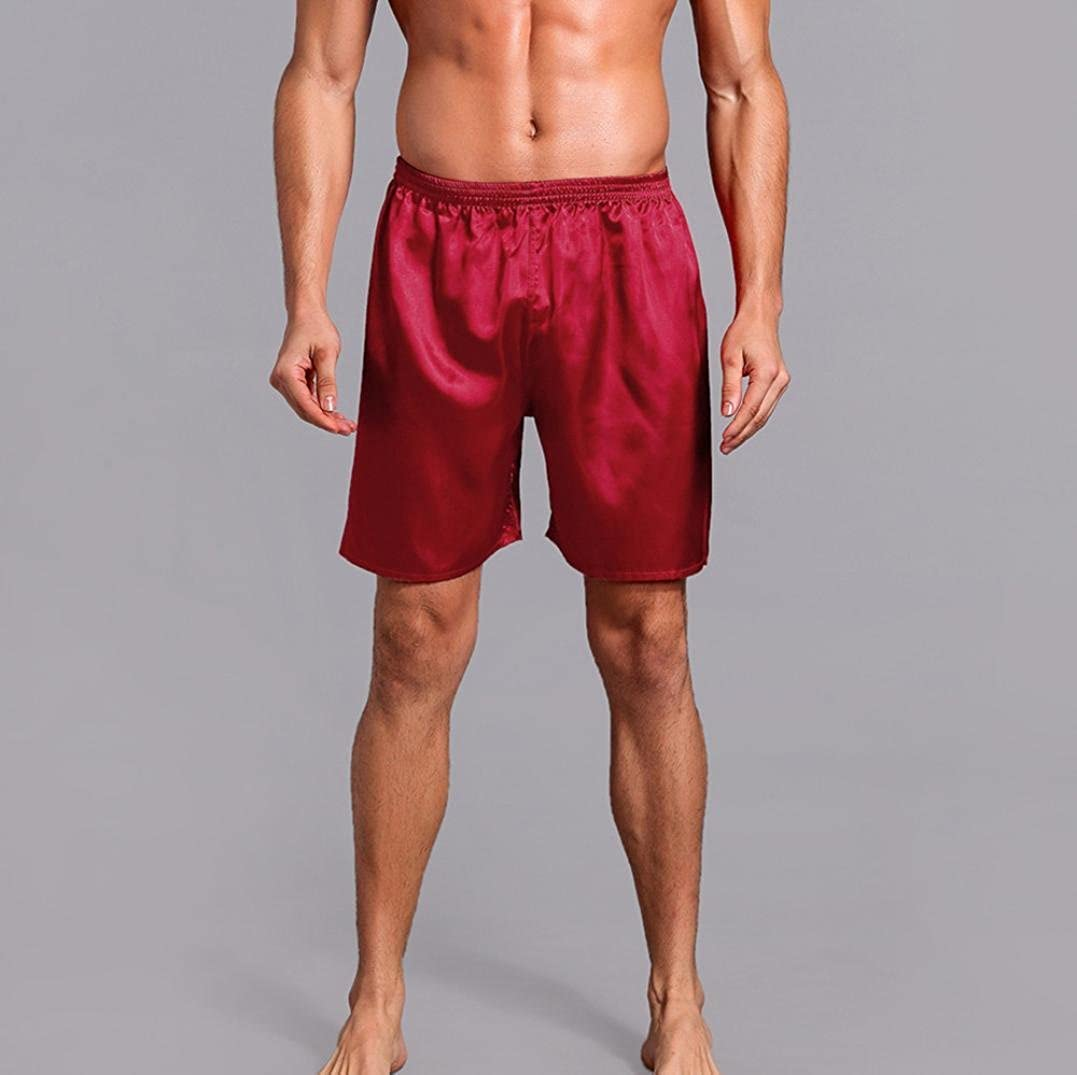 Pantalones para Hombres,❀❀RETUROM 2018,Hombres Pijama de sat/én de Seda Ropa de Dormir Homewear Robes Shorts Ropa Interior de Loungewear