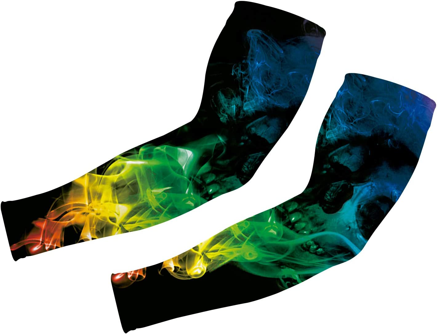Uideazone UV Protection Cooling Arm Sleeves 1 Pair Sports Compression Sleeves for Cycling, Running, Basketball, Football & Outdoor Activities