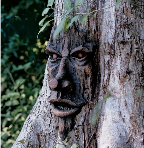 The Spirit of Nottingham Woods: Greenman Tree Sculpture (Halloween Tree Decor)