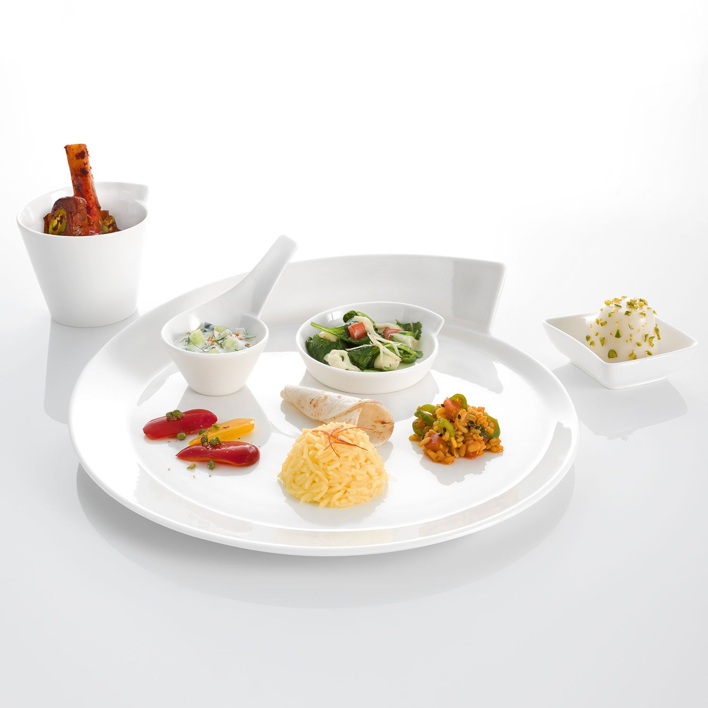 White 30 cm Villeroy /& Boch NewWave Presentation Plate Premium Porcelain
