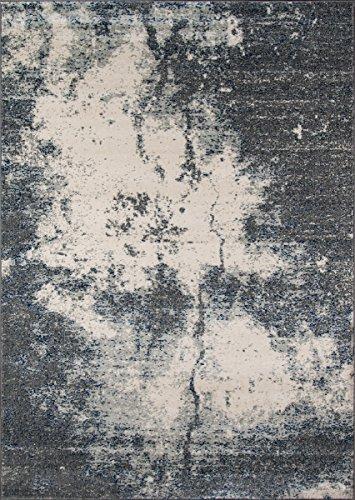 Momeni Rugs LOFT0LO-03GRY5376 Loft Collection, Contemporary Area Rug, 5'3″ x 7'6″, Grey