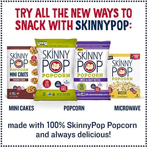 SkinnyPop Popcorn, Original and White Cheddar Popcorn, Variety Pack, 14 0.5oz Popcorn Bags Variety Pack, Gluten Free Popcorn Bags, Non-GMO, No Artificial Ingredients, Healthy Snack