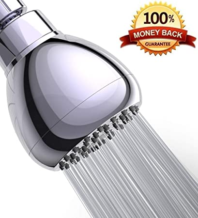 Best High Flow Shower Head.Premium 3 Inch High Pressure Shower Head Best Pressure Boosting Fixed Showerhead Adjustable Metal Swivel Ball Joint Water Saving Rain Showerhead
