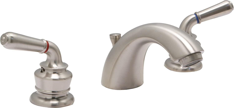 Huntington Brass 14730-72 8-Inch Satin Nickel 16-Inch Builders 2-Handle Deck-Mount Roman Tub Faucet