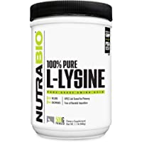 NutraBio L-Lysine Powder - 500 Grams