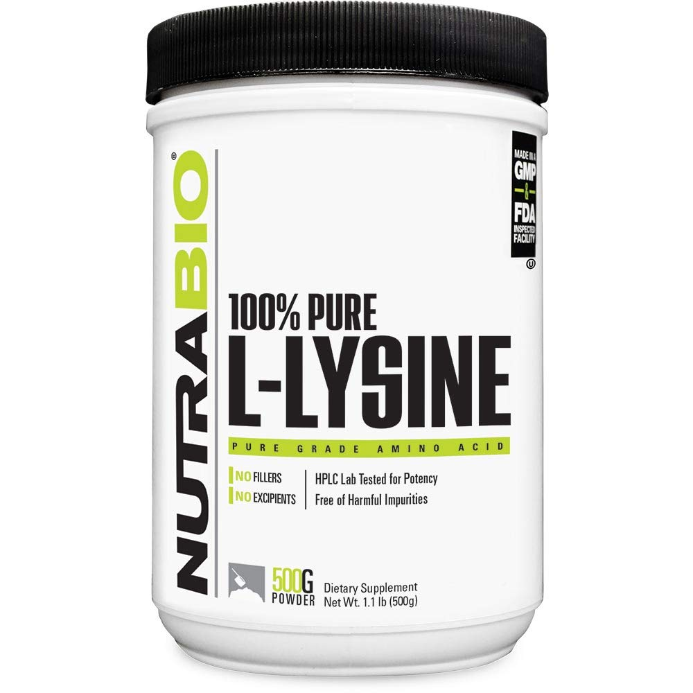 NutraBio L-Lysine Powder - 500 Grams by NutraBio