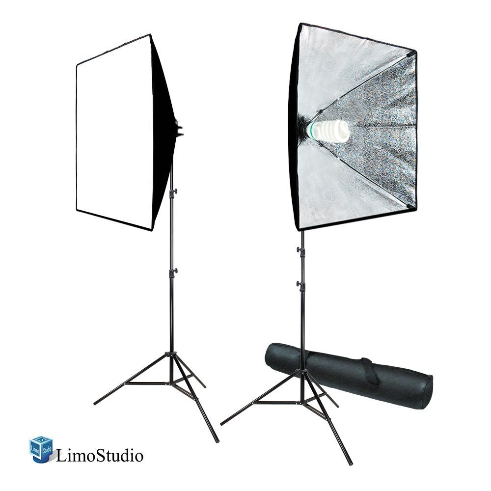 LimoStudio 700W Photography Softbox Light Lighting Kit Photo Equipment Soft Studio Light Softbox 24''X24'', AGG814