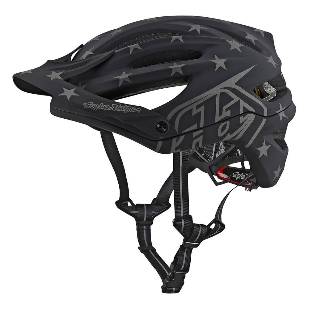 Troy Lee Designs A2 Superstar Mountain Bike Adult Helmet 2018 with MIPS Protection and X-Static Liner meets/exceeds CPSC CE-EN AS/NZS X-Large/2X-Large Black by Troy Lee Designs (Image #1)