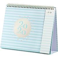 "2020 Desk Calendar - Standing Flip Calendar 2020 with Premium Thick Paper, 10.5"" x 10.25"", Jan 2020 - Dec 2020, Perfect Desk/Wall Calendar with To-Do List & Bonus 2 Pockets, Unruled Blocks, Sturdy Gol"