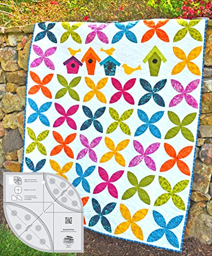 Quilt in a Day Exclusive Combo- Creative Grids Round Up Tool (CGRATK1) with FREE Cut Loose Show Your Row: Orange Blossom Quilt Pattern (CLPCVB013)