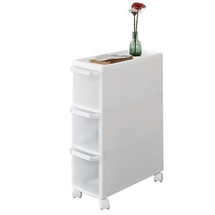 SoBuy® FRG41-KW Rollwagen mit DREI Schüben Nischenwagen Badrollwagen  Schubladencontainer Küchenregal