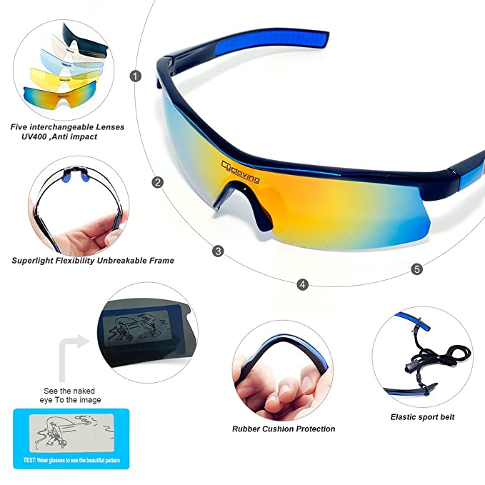 b3946d6b1e2 Amazon.com  Sports Polarized Sunglasses