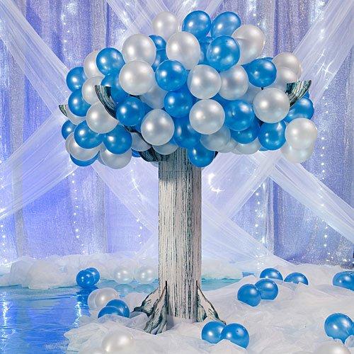 Shindigz 8 ft. Wintry Balloon Tree by Shindigz