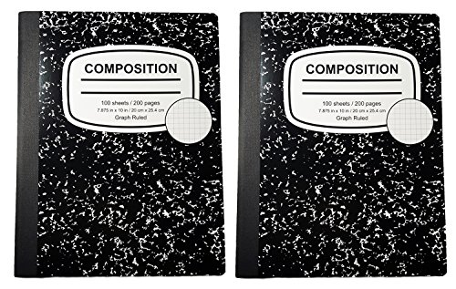Graph Ruled Composition Book (Pack of Two Books)