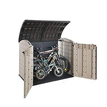 STS Supplies LTD - Cajón de almacenamiento para bicicleta, para exterior o exterior, plástico