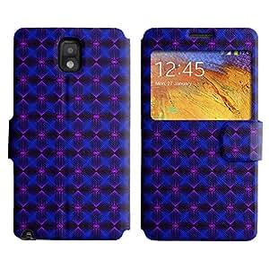 LEOCASE patrón de diamante Funda Carcasa Cuero Tapa Case Para Samsung Galaxy Note 3 N9000 No.1005328