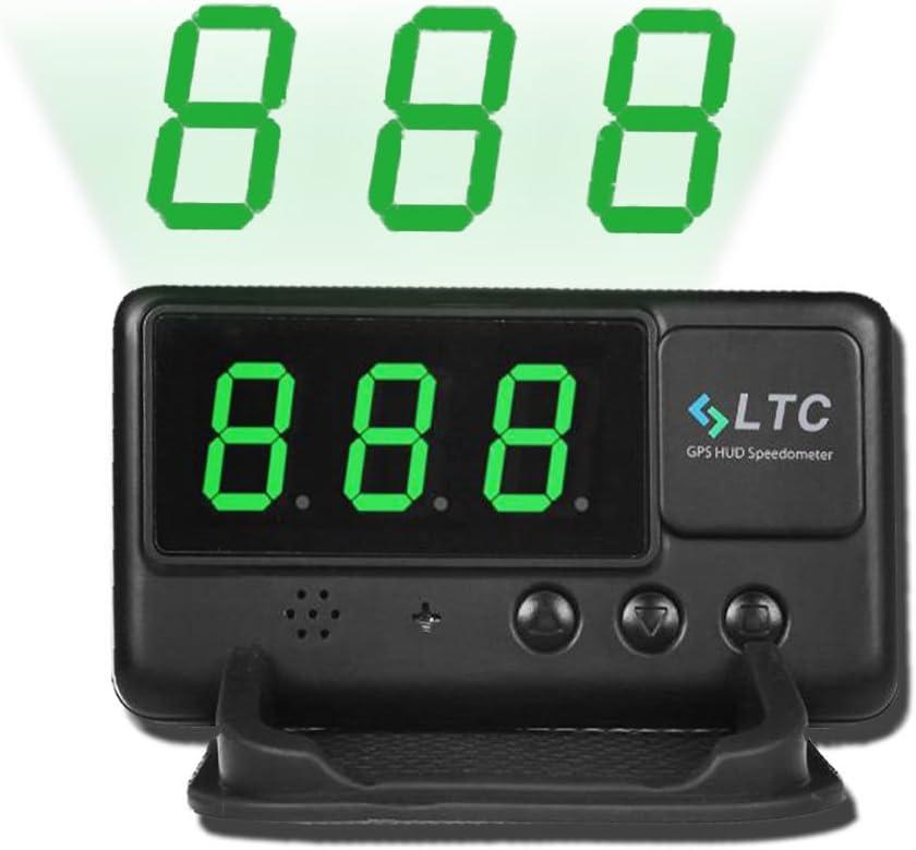 LeaningTech LTC Velocímetro Universal para Coche, Pantalla con visualizador HUD, GPS, Sistema OBD II, con función de Alarma, Aviso de Velocidad (C60): Amazon.es: Coche y moto