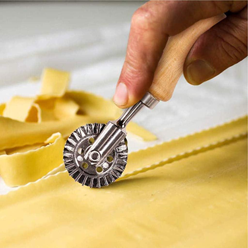 Moule /à Biscuits P/âtes Machine de d/écoupe /à la Main Machine de gaufrage de boulette en Relief avec Rouleau Cutti Cuisine , Salle /à Manger et Bar
