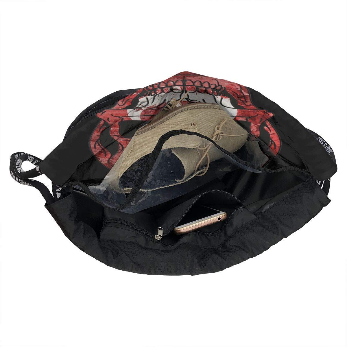 Turkish Skull Cinch Backpack Sackpack Tote Sack Zol1Q Lightweight Waterproof Large Storage Drawstring Bag for Men /& Women