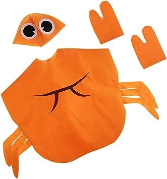 Baoblaze Disfraz de Cangrejo Sombrero Naranja Atractivo Sin ...