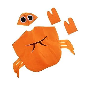 Baoblaze Disfraz de Cangrejo Sombrero Naranja Atractivo Sin Distorsión  Escuela Tejido Rígido Celebración Adorno Decoración 45b90a6a2f1