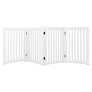 Amazon Com Welland Freestanding Wood Pet Gate White 72 Inch Width
