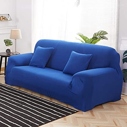 Surprising Amazon Com Berteri Royal Blue Sofa Cover Stretch Loveseat Spiritservingveterans Wood Chair Design Ideas Spiritservingveteransorg