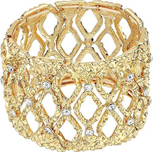 Lilly Pulitzer Women's Mosaic Stretch Bracelet Gold Metallic One Size