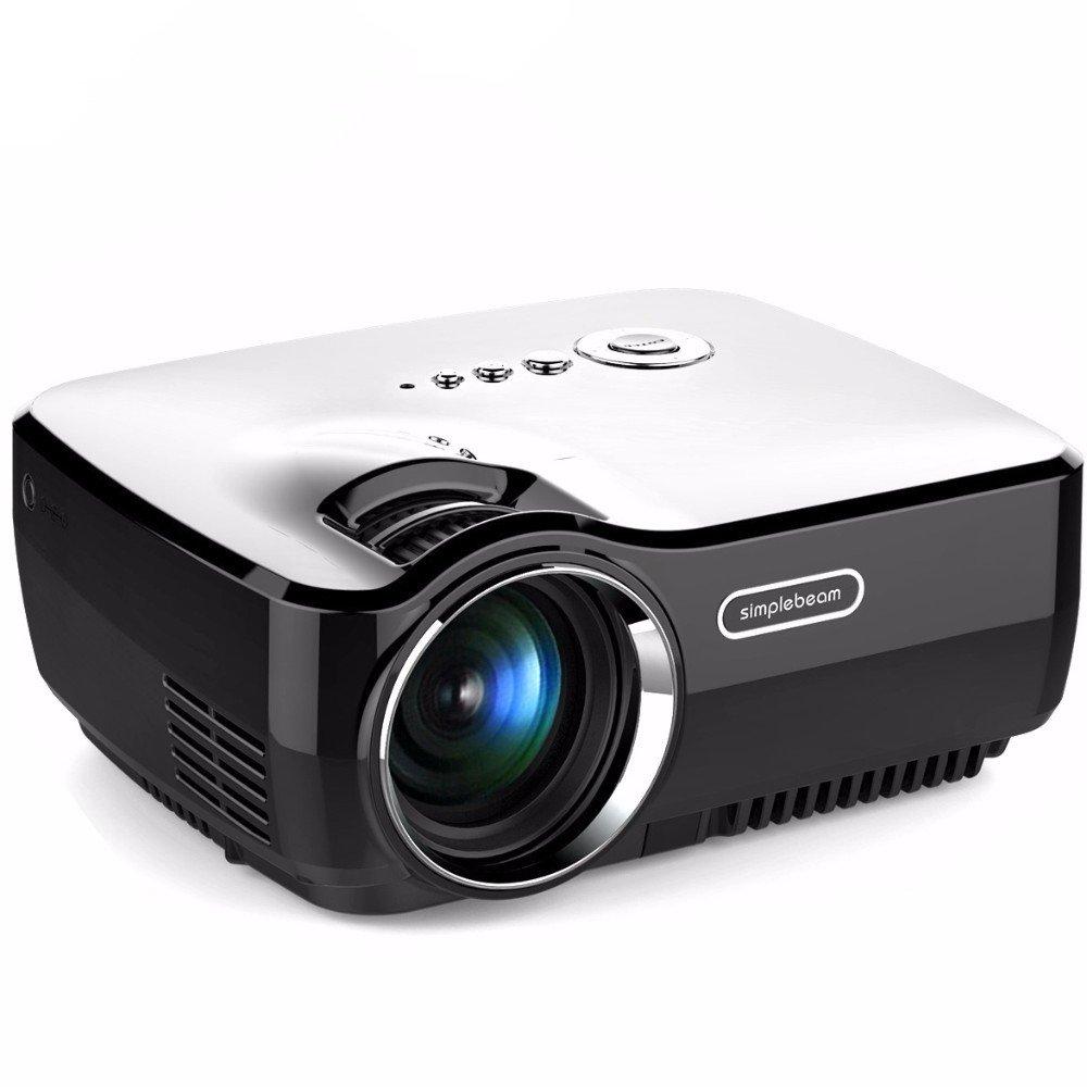 フルHDミニポータブルプロジェクター800X480ホームシアターLEDテレビビデオゲームビーマーLCD 1200ルーメンSD USB HDMI 1080P液晶プロジェクター [並行輸入品]   B071X9GCW2