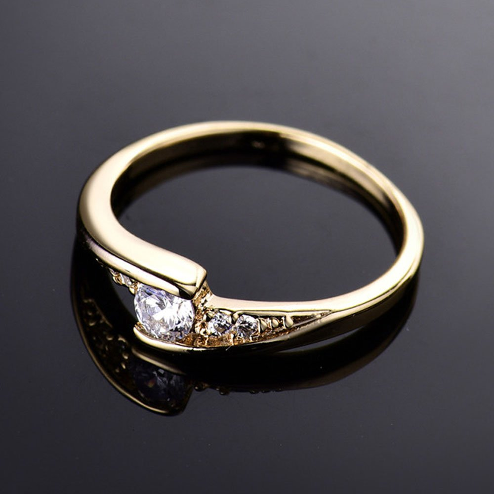 T/&T ring Fashion Gold Plated Ring For Women Luxury White Jewelry Engagement Wedding Rings T/&T