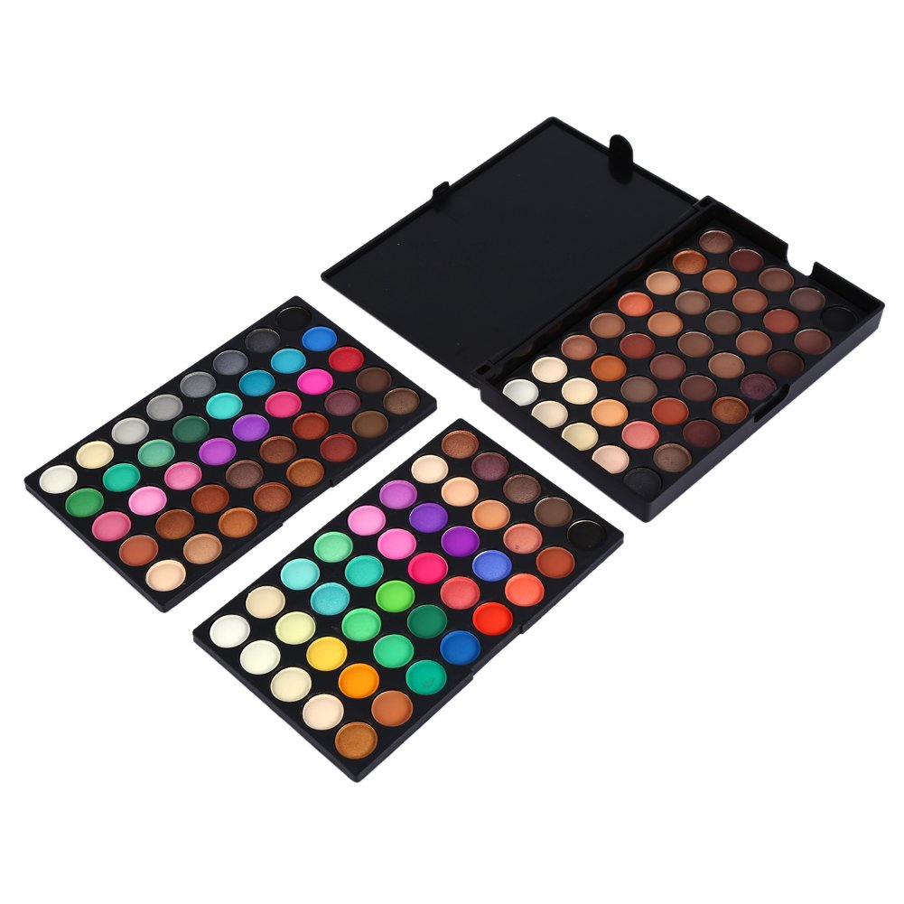 Eyeshadow Palette Matte Shimmer Eye Shadow Powder Blusher Glitter Makeup Cosmetics Tool Set 120 Colors 5.9 × 3.9 Inch Zerone