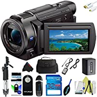 Sony FDR-AX33 4K Ultra HD Handycam Camcorder + Pixi-Basic Accessory Kit