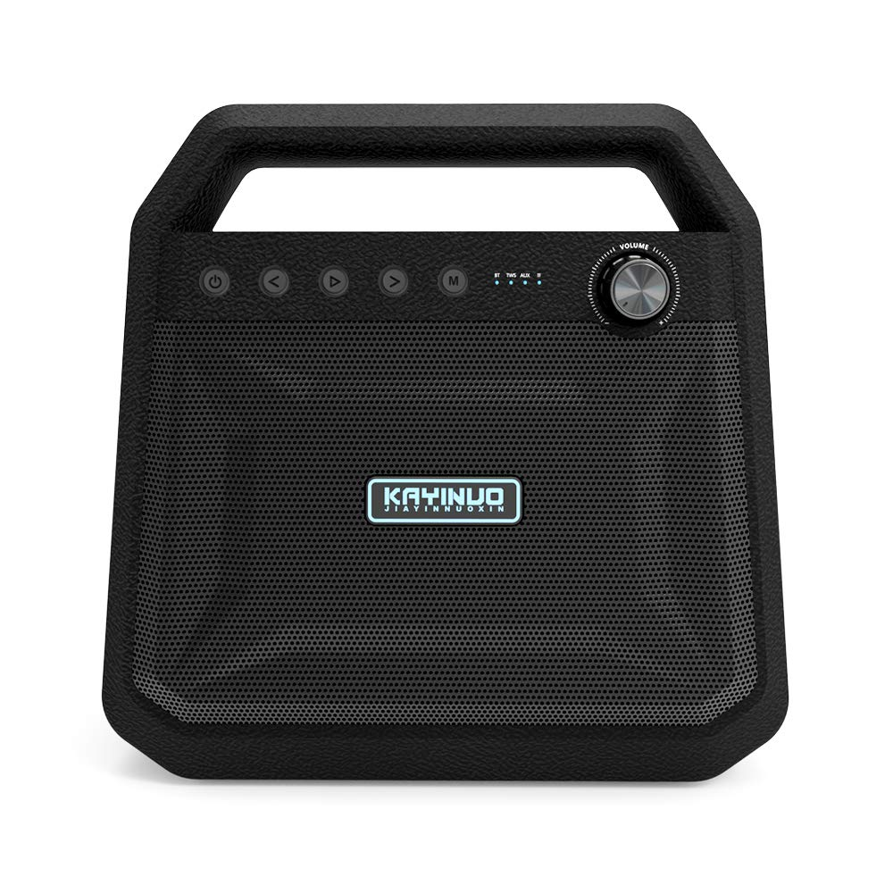 Kayinuo Bluetooth Speaker Loud Bluetooth Boombox Bass Speakers Portable Stereo Wireless Speakers Bluetooth Party Speaker 48W Large Bluetooth Speakers 20-Hour Playtime with 6000mAH Power Bank TF Card by KAYINUO JIAYINNUOXIN