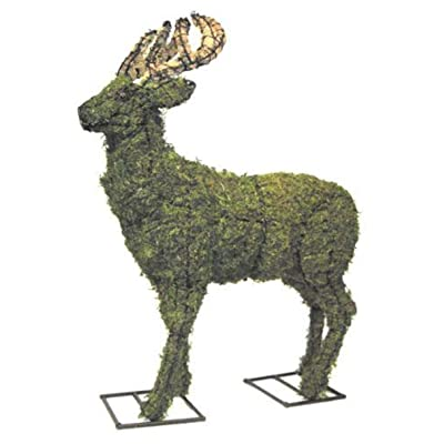 "Deer Topiary Sculpture 18"", 26"", and 52""- Wire Frame or Moss Filled : Garden & Outdoor"