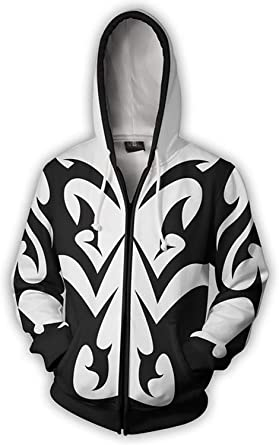 US!Kingdom Hearts 2 Sora Sweatshirt Hoodie Cosplay Costume Zipper Jacket Coat