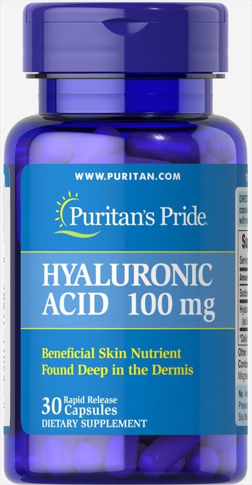 Puritan's Pride Ácido Hialurônico 100 mg 30 cápsulas por Puritan's Pride