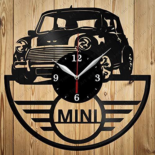 Clock Cooper Mini - Vinyl Mini Cooper Clock Art Decor Home Wall Clock Black Original Gift Unique Design