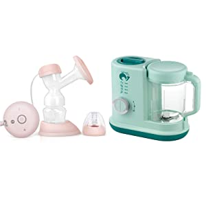 WHALELOVE Baby Food Blender Processor 4 in 1 Food Maker Steamer Warmer for Baby Infants Toddlers Puree Food Mill and Electric Feeding Pumps Pain Free, BPA Free