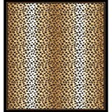 Home Dynamix Zone 7117-502 Ebony 2 Feet by 3 Feet Leopard Area Rug