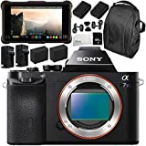 Sony Alpha a7S Mirrorless Digital Camera with Atomos Ninja Inferno 7 4K HDMI Recording Monitor 11PC Accessory Bundle – Includes Deluxe Backpack + MORE