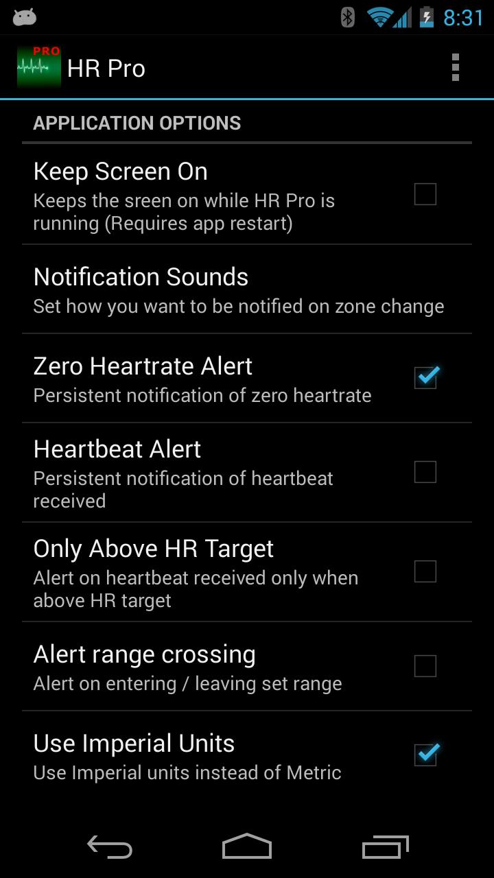 HR Pro - Zephyr HxM Heartrate