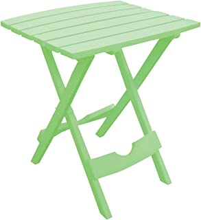 product image for Adams 8500-08-3731 Quik-fold Portable Side Table, Resin, Summer Green