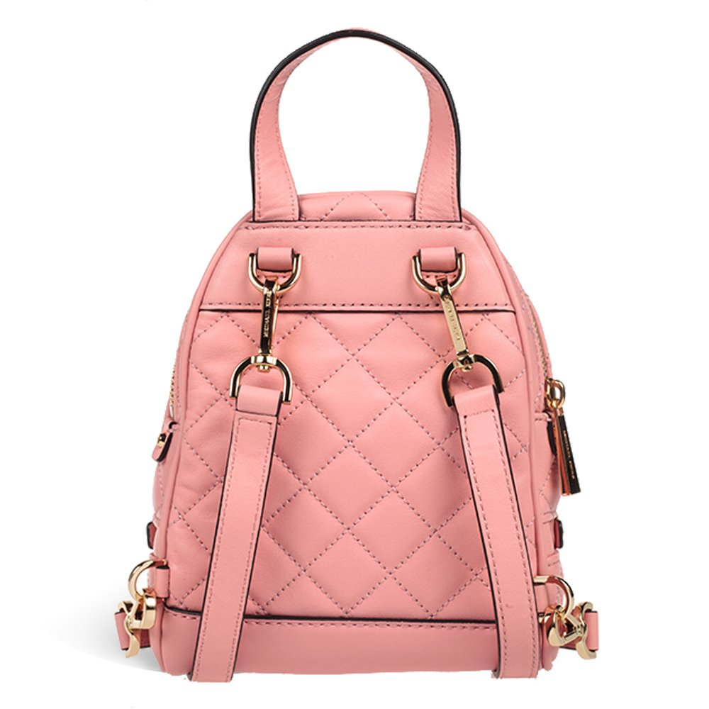 586d41e10be978 MICHAEL Michael Kors Rhea Extra-Small Quilted-Leather Backpack in Pale Pink:  Amazon.co.uk: Shoes & Bags
