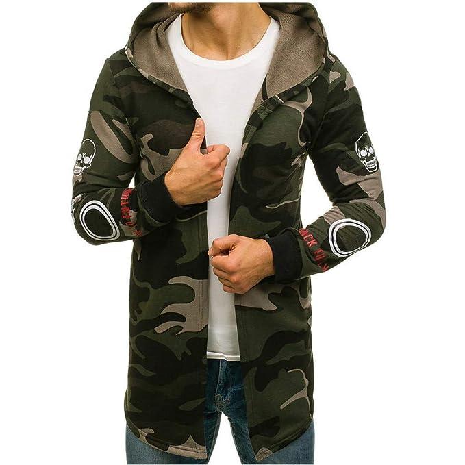 Amazon.com: Abrigo con capucha de camuflaje para hombre ...