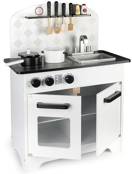 Leomark Cucina In Legno Bianco Nero Design Modern Black White