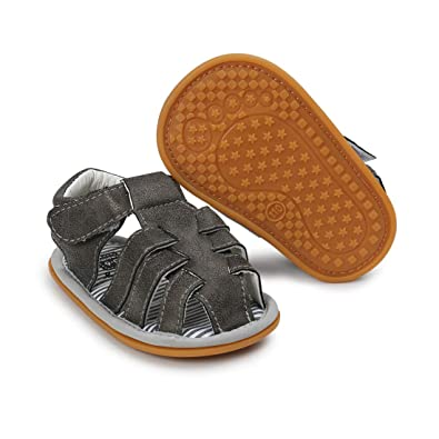 66ea2fa97 Infant Baby Boys Girls Summer Sandals PU Leather Rubber Sole Toddler First  Walker Shoes(0