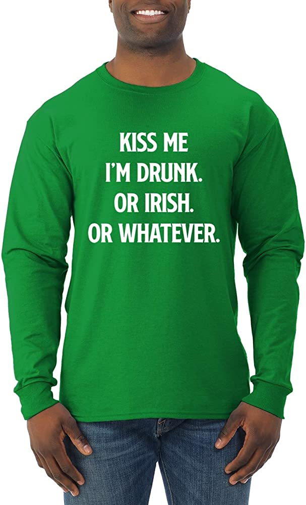 Kiss Me Im Drunk Irish Whatever Funny Drinking S St Patrick S Day 1831 Shirts
