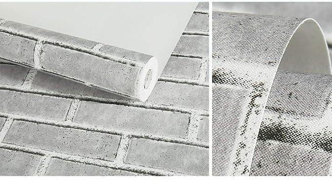 SDCER Papel Tapiz Ambiental Grueso Retro Nost/álgico Ladrillo Simple 3D Est/éreo No Tejido Adhesivo de Pared Dormitorio Sala de Estar Pared de Fondo Rojo 53X950cm(20.8X374inches)